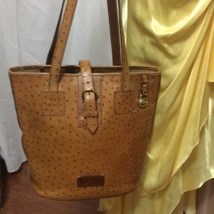 Ostrich embossed leather  Dooney and Bourke bag.
